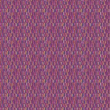 Fractured Stripe - a multicoloured graphic mark print by GabsBuckingham
