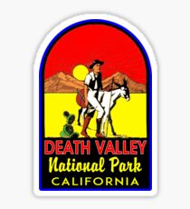 DEATH VALLEY NATIONAL PARK CALIFORNIA VINTAGE HIKE HIKING CAMP CAMPING Sticker