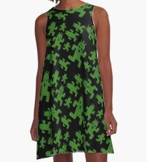Cactuar print  A-Line Dress
