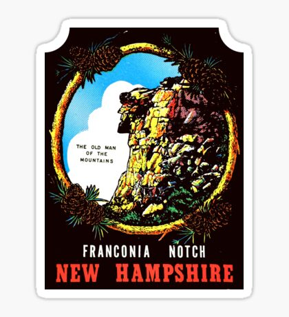 New Hampshire NH State Franconia Notch Vintage Travel Decal Sticker