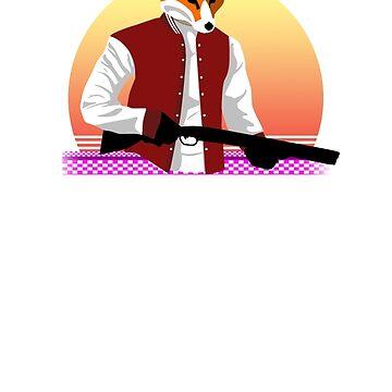 Hotline Miami - Shotgun Rick by MuckyBeverage