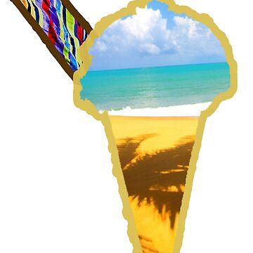 Summer Ice Cream Cone Scene by dno123