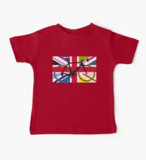 Bike Flag United Kingdom (Multi Coloured) (Big - Highlight) Baby Tee