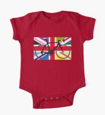 Bike Flag United Kingdom (Multi Coloured) (Big - Highlight) One Piece - Short Sleeve
