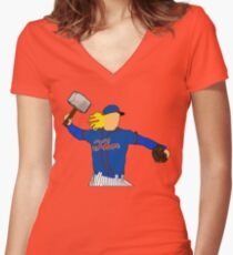 Noah Syndergaard Women's Fitted V-Neck T-Shirt