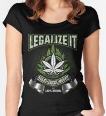 Legalize Marijuana T Shirt Medicinal Marijuana Women's Fitted Scoop T-Shirt