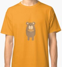 Brown Bear with pie Classic T-Shirt