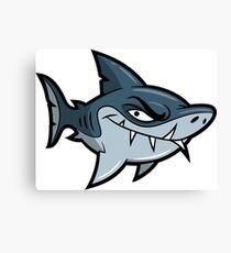 Crazy Cartoon Shark Character Canvas Print