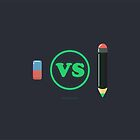 Pencil vs eraser by whouse86