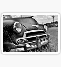 1951 Chevrolet Power Glide Black And White Sticker