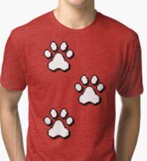 Pixel paw pads! Tri-blend T-Shirt