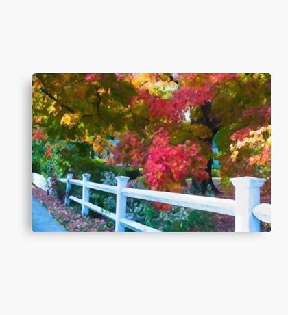 The Magic of a New England Autumn Canvas Print