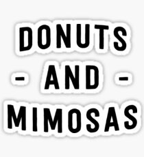 Donuts and mimosas Sticker