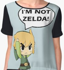 I'm Not Zelda Chiffon Top
