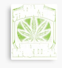 Natural Marijuana Legalize Mary Jane T Shirts Metal Print