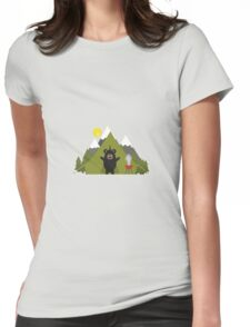 Grizzly Bear Camping Womens Fitted T-Shirt