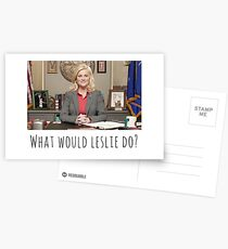 What would Leslie do? Postcards