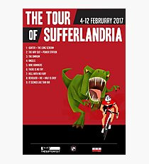 Official Tour of Sufferlandria 2017 Poster - MALE Rider Photographic Print