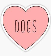 I Love Dogs Heart | Dog  Sticker