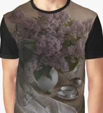 Still life with fresh lilac and dishes Graphic T-Shirt
