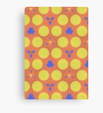 colorful trendy unique pattern Canvas Print