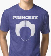 Star Wars Princess Leia Carrie Fisher white Tri-blend T-Shirt