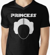 Star Wars Princess Leia Carrie Fisher white Men's V-Neck T-Shirt
