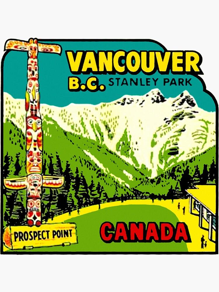 Calcomanía de viaje vintage Vancouver BC Stanley Park de hilda74