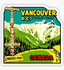 Vancouver BC Stanley Park Vintage Travel Decal Sticker