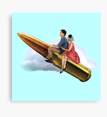 To the moon Alice! Canvas Print