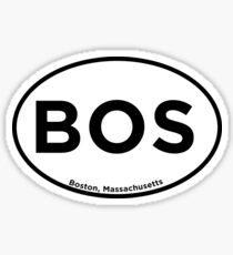 Boston Airport Code BOS Sticker