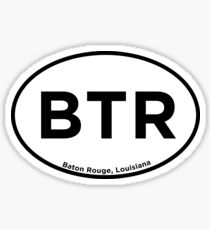 Baton Rouge Airport Code Sticker