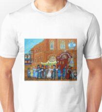 JEWISH WEDDING UNDER THE CHUPA BAGG SYNAGOGUE MONTREAL STREET SCENE T-Shirt