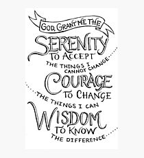 Simply the Serenity Prayer Photographic Print