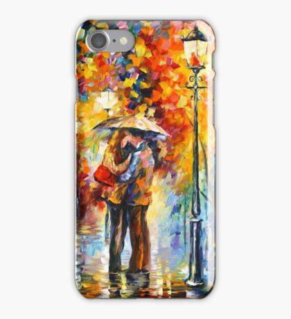 KISS UNDER THE RAIN - Leonid Afremov iPhone Case/Skin