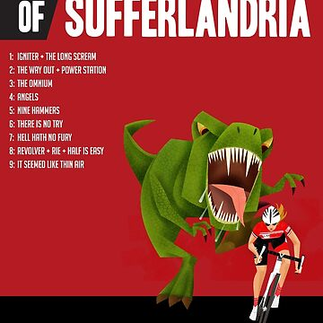 Official Tour of Sufferlandria 2017 Poster - FEMALE Rider by bvduck