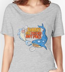 sharks are friends, not foes Women's Relaxed Fit T-Shirt