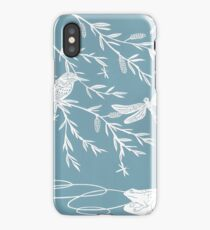 Blue Willow Paper Cutting iPhone Case