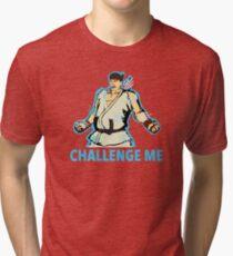 """Ryu """"Challenge Me"""" Tri-blend T-Shirt"""