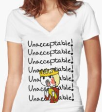 Joffrey - Unacceptable!! Women's Fitted V-Neck T-Shirt