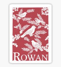 Burgundy Rowan Paper Cutting Sticker