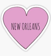 New Orleans Love Sticker