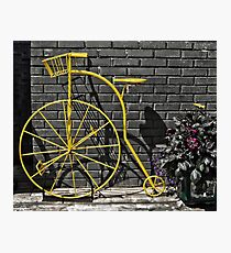 The Yellow Bicycle! Photographic Print