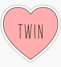 I Love Twin Heart | Black Variant Sticker