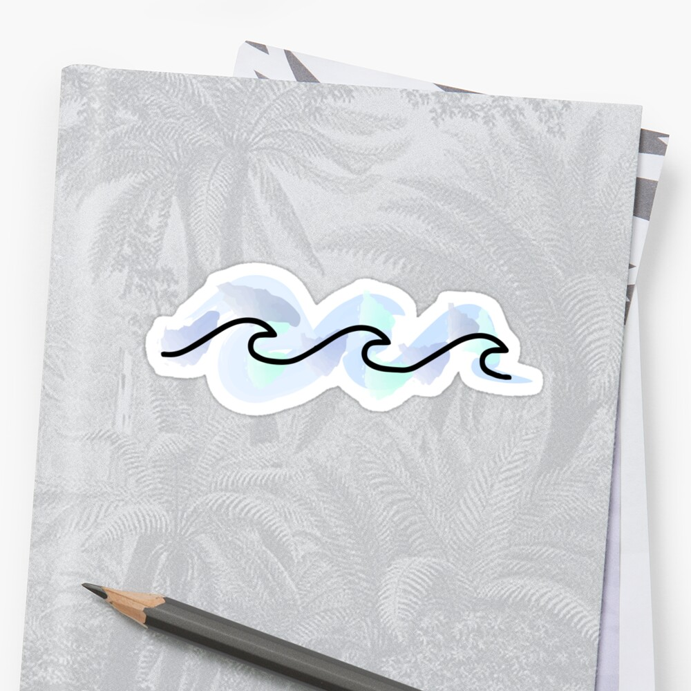 Watercolor Waves Sticker