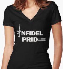 Infidel Pride  Women's Fitted V-Neck T-Shirt