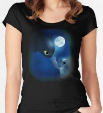 How to Train Stitch's Dragon Women's Fitted Scoop T-Shirt