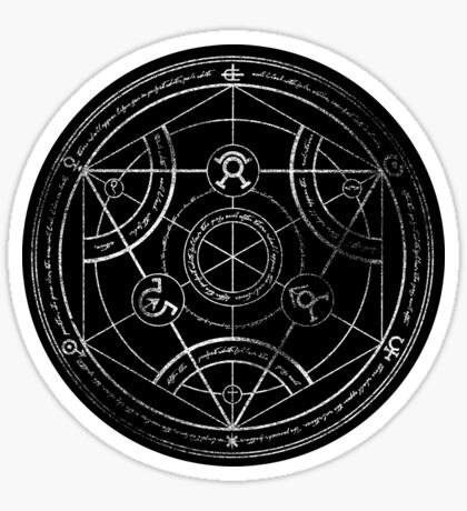 Human transmutation circle - chalk Sticker