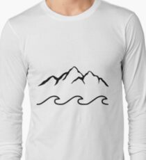 Mountains and Sea  Long Sleeve T-Shirt