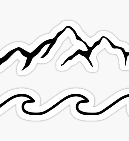 Mountains and Sea  Sticker